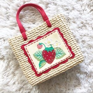 Vintage | Strawberry Square Staw Beaded Handbag